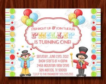 Carnival Circus Invitation PRINTABLE digital file