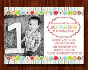 Circus Carnival Birthday Invitation PRINTABLE Digital File