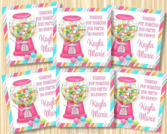Sweet Shoppe Themed favor tags Digital PRINTABLE PDF FILE