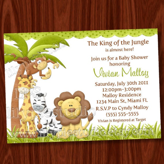 free printable baby shower invitations jungle theme www