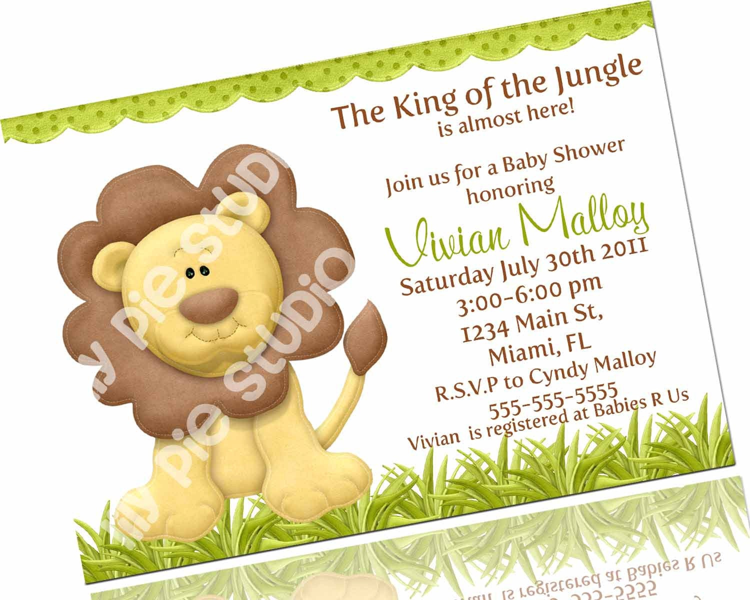 King Of The Jungle Baby Shower Invitations for beautiful invitation template