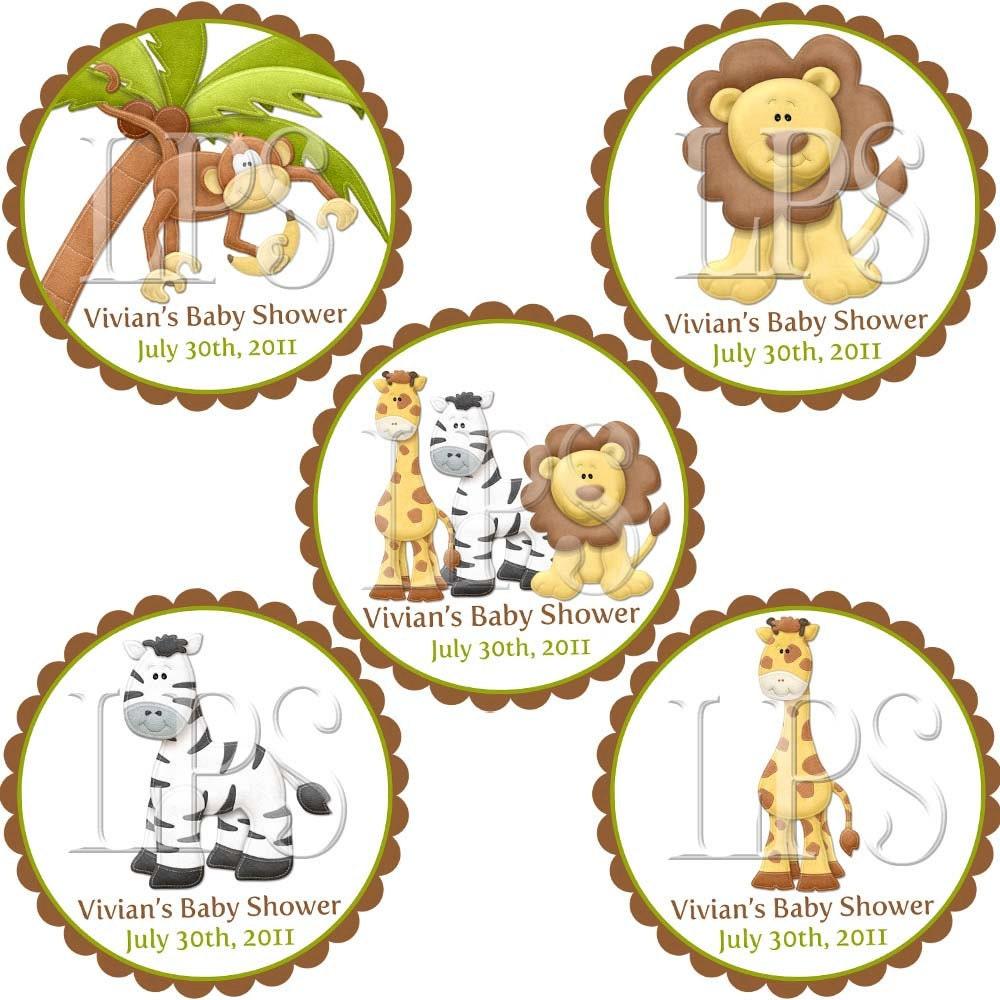 Jungle Safari Zoo Cupcake Toppers / Labels / Tags PDF digital