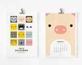 2012 Calendar, Cute Animal Printable