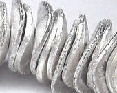 Silver Disc Spacers Brushed Silver 6mm (80)