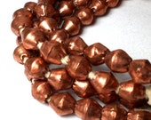 African Beads Copper Mala Bicones Large Hole 7mm (20)