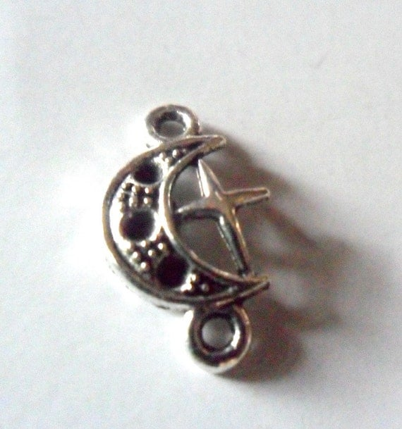 Crescent Moon and Star Connectors for your jewelry design (8)