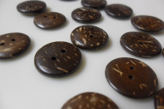 COCONUT SHELL buttons from HAWAII 12-15 buttons 1/2 inch