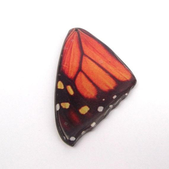 Butterfly Wing Pendant - Wood and Paper