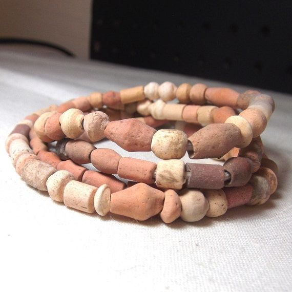 Trade Beads - African Clay Beads Antique beads in Terra cotta (25)