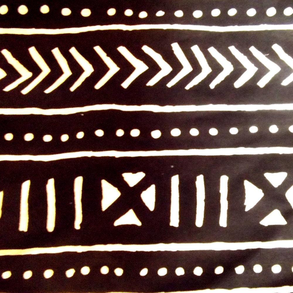 Woven African Mud Cloth Type Fabric 1 Yard