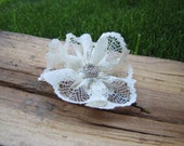 Romanitic lace flower hair pin