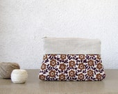 Clutch Cosmetic pouch Pencil case Linen and cotton