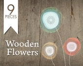 Premade Etsy shop  OOAK set of avatars banners and more  - 9 pieces - Wooden Flowers