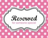 RESERVED Custom listing for pattoney - LOVE phrase - White  x 2