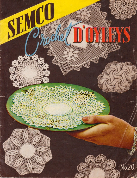 1940s Crochet Doilies Book By Semco