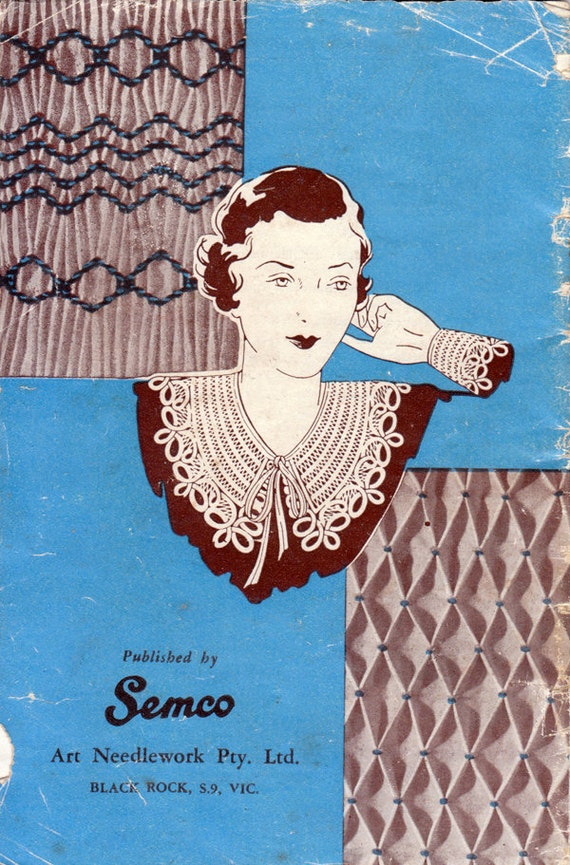 1920s Smocking Needlework Book - Tapestry, Stitching, Faggoting and Embroidery
