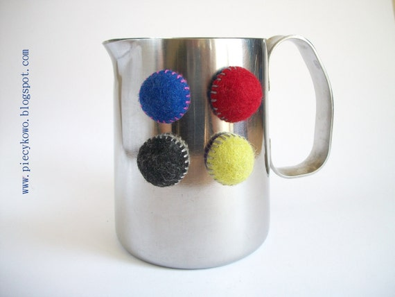 Felt Fridge Magnets - set of 4