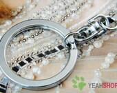 32mm Nickel Key Chains - 10 PCS (KR11)