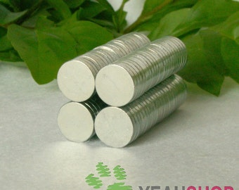 Super Strong Rare Earth Magnets - 8mmx1.5mm - 10 pcs