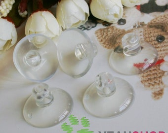 30mm Clear Suction Cup for Windows and Mirrors - 10pcs