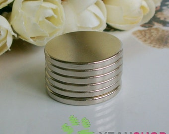 Super Strong Neodymium Silver Earth Magnet - 1 inch - 1 piece