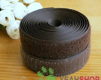 20mm Coffee Sew on Velcro Hook & Loop Tape - 2 Meters (VC20-16)