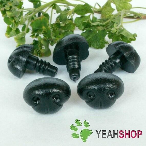 20mmx16mm Black Dog Nose / Safety Nose /Plastic Nose - 5 pcs (DN3)