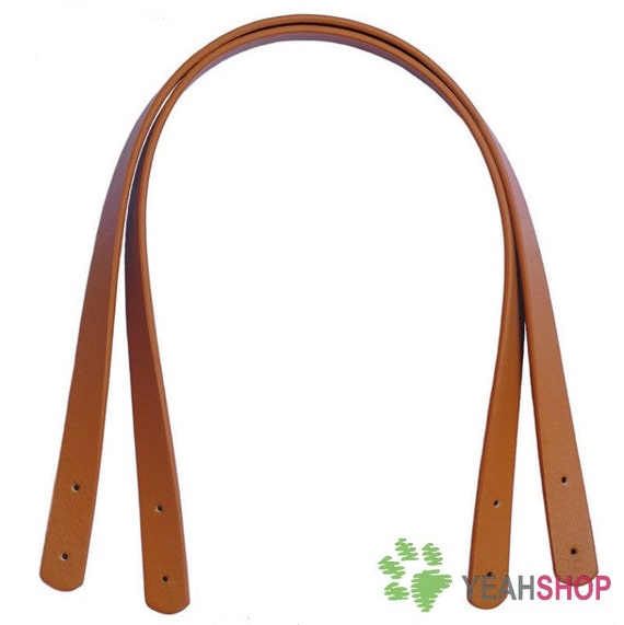 Imitation Leather Bag Handles - Brown - 55cm / 22 inch - HD25