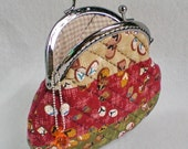Pretty Patchwork And Quilted Purse