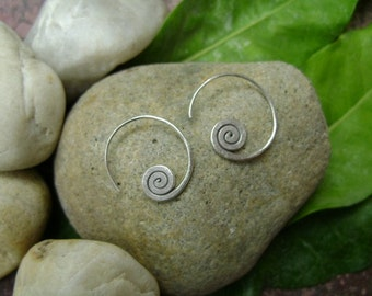 Silver Spiral Earrings - The Beginning of Life(1)