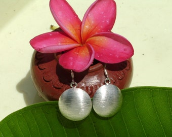 Silver Earrings - The Silver Convex Disc(2)
