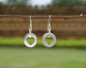 Silver Tribal Earrings - Through Your Heart