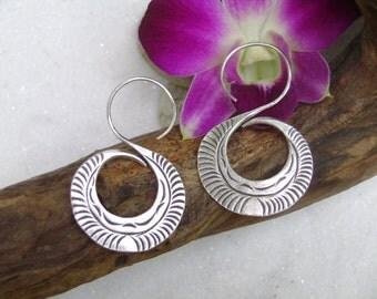 Silver earrings- The Alphabet S (1)
