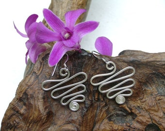 Spiral Silver Earrings - The Way of Life (1)