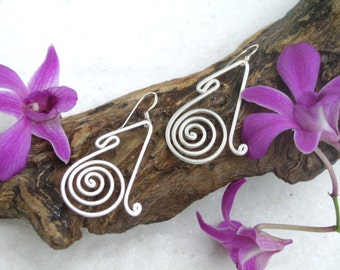 Silver Earrings - The Way of Life (3)