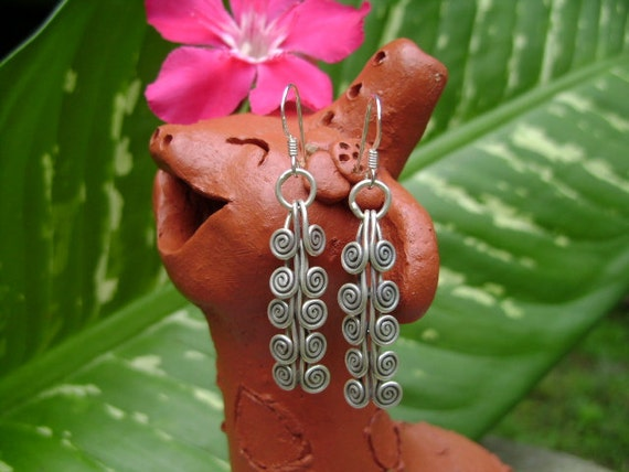 Fine Silver Earrings - The Extreme Spirals