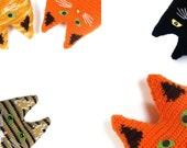 Pet portrait cat crochet, Personalized cat pillow by your own design, stuffed cat pillow, picture pet portrait, stuffy cat toy