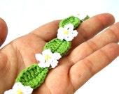 Crochet anklet bracelet, flowers wrap bracelet, barefoot jewelry