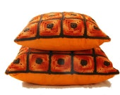 """Crochet Cushion Pillow Cover set  """"Sunshine"""" - 12'' and 15"""" free shipping"""