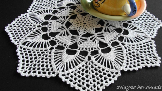 "Crocheted Cotton Doily ""Malcho"", Free Shipping"