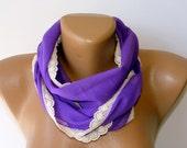 purple cotton sacrf,Turkish Yemeni Fabric Scarf,Valentines day Gift,for her,all seasons,Guipure Scarf,Headband,Elegant 2012