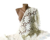 white shawl,acrylic mohair crochet shawl,warm,white women shawl,winter trend,Fashion gift idea for her,by SENO