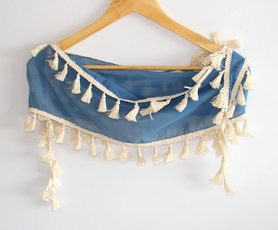 Blue turkish cotton yemeni fabric scarf,women scarves,new summer scarf , fashion , soft bandana , By Seno