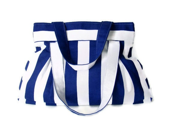 bag, everyday bag, blue and white striped purse, shoulder bag, gift ideas, spring ,summer, for her