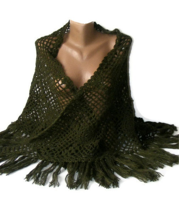 green crochet shawl,women shawl,2012 crochet shawl trends,for her,soft,warm,winter trends,spring,handmade,gifts idea,bY SENO