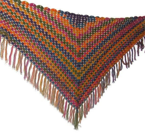 rainbow shawl, women fashion shawl, accessory, hand crocheted scarf, spring trends, for her, fall fashion