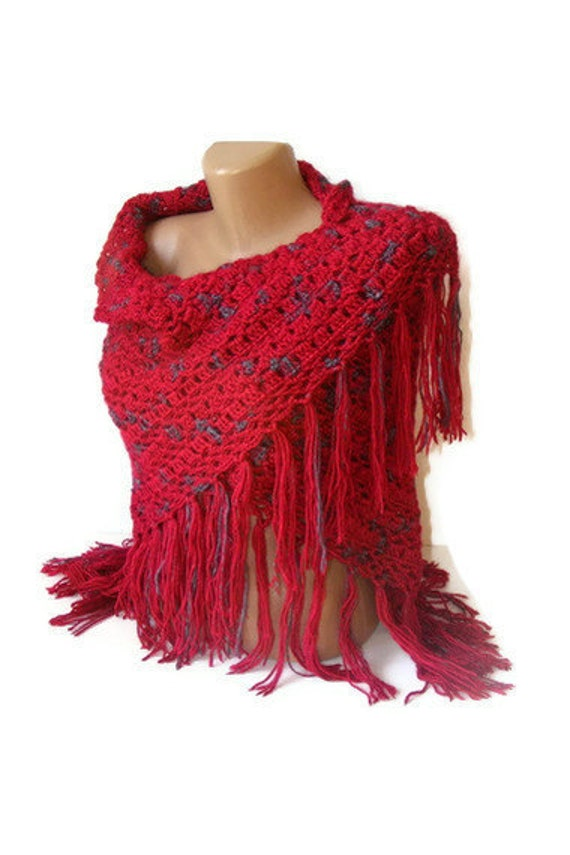 women crochetted shawl ,maroon shawl ,stole ,wrap ,gifts, winter, spring, soft, crochet trends, for her, gift