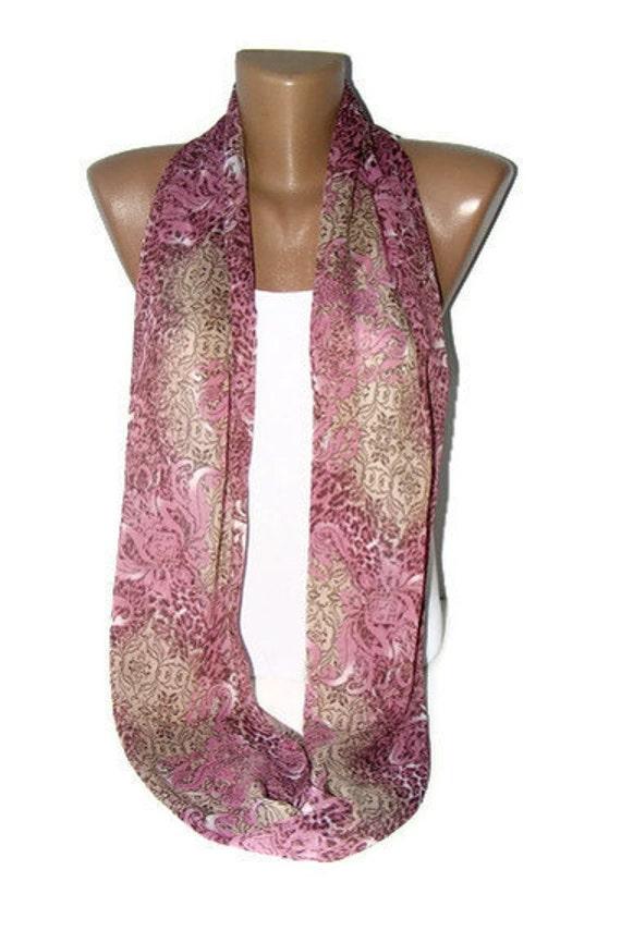 Infinity scarf - summer Fashion scarf,Loop scarf,purple scarves,chiffon fabric,soft,gift ideas,for woman,women scarves,2012 fashion ,seno