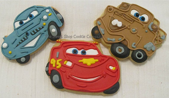 Cars 2  inspired Cookies 2 dozen
