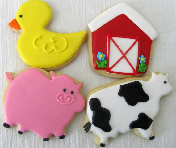 Farm Themed cookies 4 dozen
